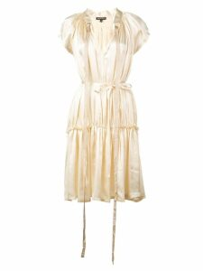 Ann Demeulemeester flared strappy dress - White