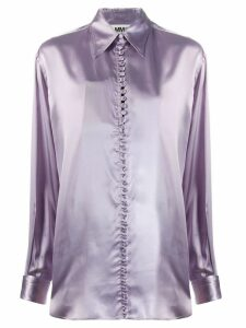 Mm6 Maison Margiela slogan shirt - PURPLE