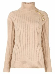 Balmain ribbed jumper - NEUTRALS