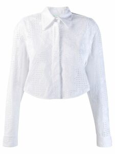 Off-White cropped embroidered shirt