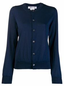 Comme Des Garçons round neck knitted cardigan - Blue