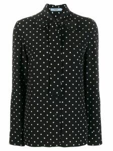 Prada polka dot pussybow shirt - Black