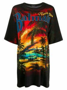 Balmain printed oversized T-shirt - Black