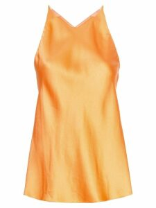 Rosetta Getty cross back blouse - ORANGE