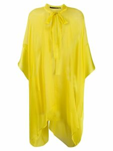 Haider Ackermann asymmetric sheer blouse - Yellow