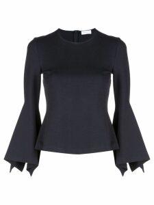 Rosetta Getty scarf sleeve blouse - Black