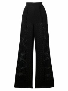Stella McCartney wide-leg lace trousers - Black