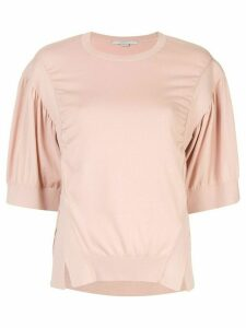 Stella McCartney side slit knitted shirt - PINK