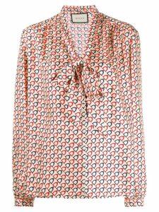 Gucci silk stirrup shirt - NEUTRALS
