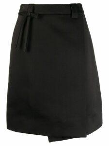 Prada A-line gabardine skirt - Black