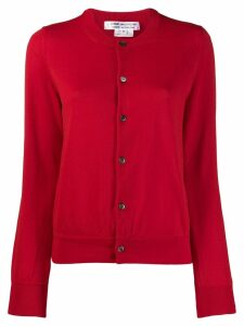 Comme Des Garçons long sleeve cardigan - Red