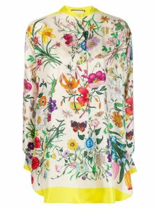 Gucci Flora print blouse - Neutrals