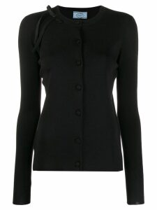 Prada shoulder bow cardigan - Black