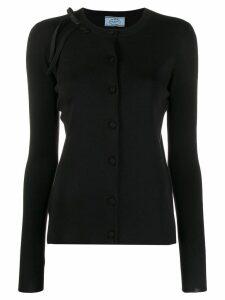Prada shoulder bow cardigan - Black