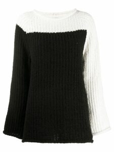 Eckhaus Latta referee sweater - Black