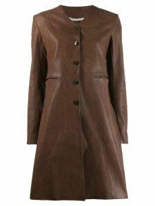 Cherevichkiotvichki single breasted coat - Brown