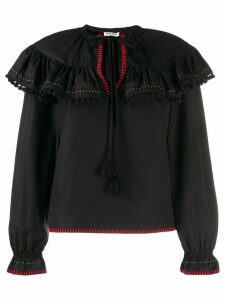 Miu Miu ruffled top - Black