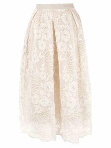 Biyan lace midi skirt - Brown
