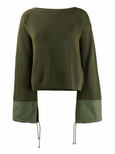 Mr & Mrs Italy wide sleeved sweater - Green