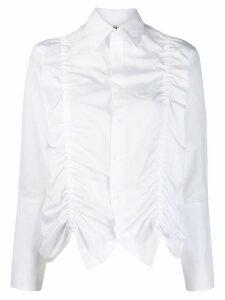 Yohji Yamamoto ruched panel shirt - White
