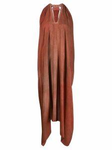 Isaac Sellam Experience Indecente draped asymmetric dress - Orange