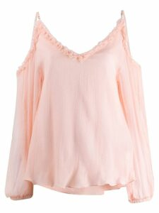 Stella McCartney cold shoulder blouse - Pink