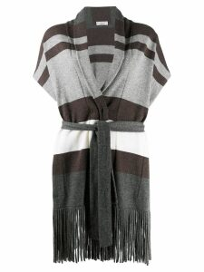 Brunello Cucinelli fringed cardigan - Grey