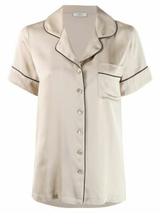 Peserico button pyjama shirt - NEUTRALS