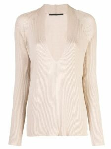 Haider Ackermann v-neck jumper - Brown
