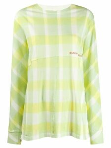 Eckhaus Latta check print top - Yellow