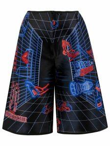Quetsche all-over print shorts - Black