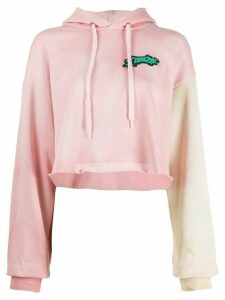 Ottolinger contrast sleeve cropped hoodie - PINK