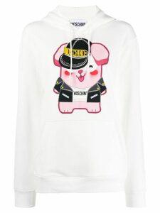 Moschino graphic print hoodie - White