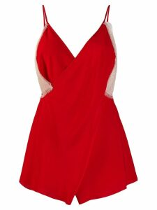 Victoria Beckham cami-styles top with lace - Red