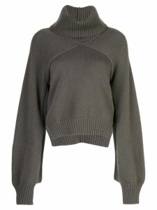 Rosetta Getty cropped paneled turtleneck - Green