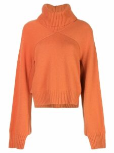 Rosetta Getty cropped paneled turtleneck - Orange