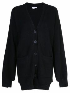 Rosetta Getty paneled cardigan - Black