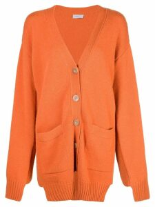 Rosetta Getty paneled cardigan - ORANGE