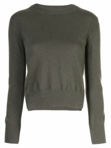 Rosetta Getty cropped split pullover - Green