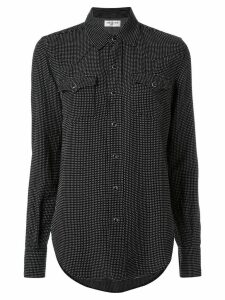 Saint Laurent embroidered long-sleeve shirt - Black