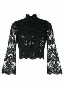 Alice+Olivia Trisha bell sleeve blouse - Black