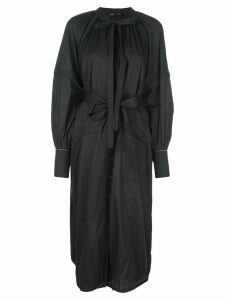Proenza Schouler Cotton Voile Long Sleeve Dress - Black