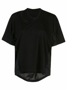 Proenza Schouler S/S Double Neck Top-Tumbled Jersey - Black
