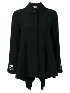 Fendi cut out shirt - Black