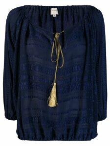 Zeus+Dione Thalassa embroidered blouse - Blue