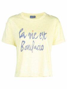 Lhd la vie est Bonifacio print T-shirt - Yellow