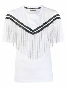 Each X Other rhinestone fringe T-shirt - White