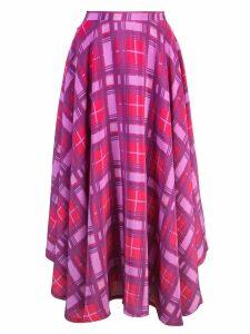 Lhd plaid print skirt - PURPLE
