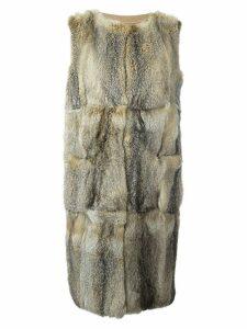 Liska sleeveless coat - NEUTRALS