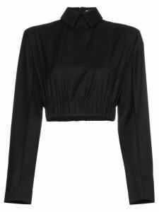 Matériel cropped blouse - Black